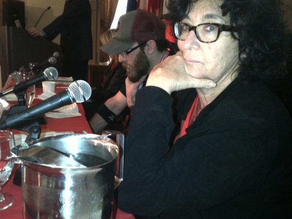 Judy Rebick & Alex Hundert together in Montreal...