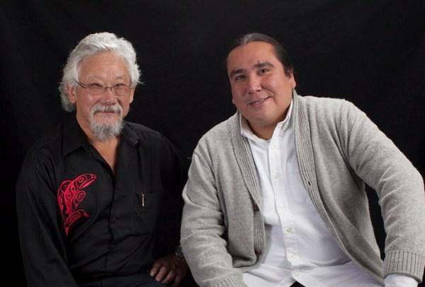 Clayton Thomas-Muller with David Suzuki...