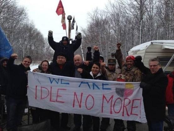 Ken Lewenza (far right) at the Sarnia Blockade...