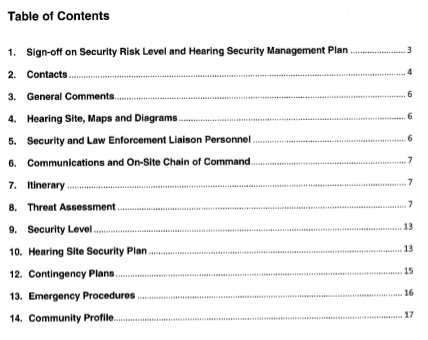 NEB-Security-plan-table-of-contents-FOI
