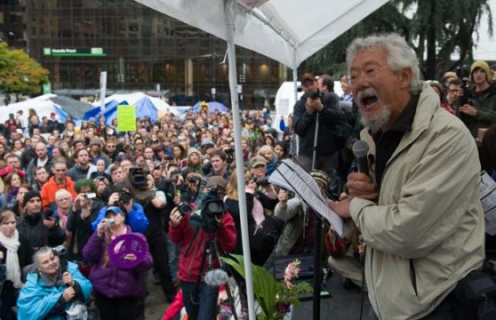 David Suzuki speaking at Occupy Vancouver in 2011