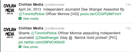 jeremy-oliver-tweets-fake-police-assault-dee-shanger-barrick-gold