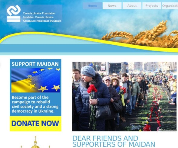 UCC funded Ukrainian Canadian Foundation gives tax receipts