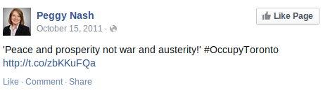 peggy-nash-occupy-toronto-peace-not-war