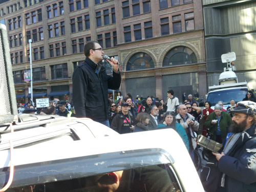 "Jon Allan speaking from the infamous ""Al Quds"" truck."