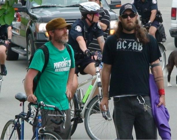 Dave Vasey with G20 convicted ringleader Alex Hundert
