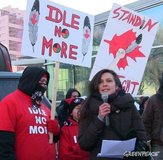 Greenpeace emplotee Melina Laboucan-Massimo