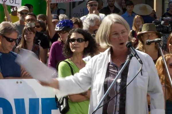 Green Party of Canada candidate Lynne Quarmby- recognize that sign?