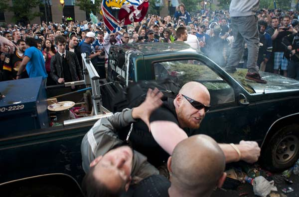 "Bert Easterbrook being ""heroic"" during 2011 Stanley Cup riot..."