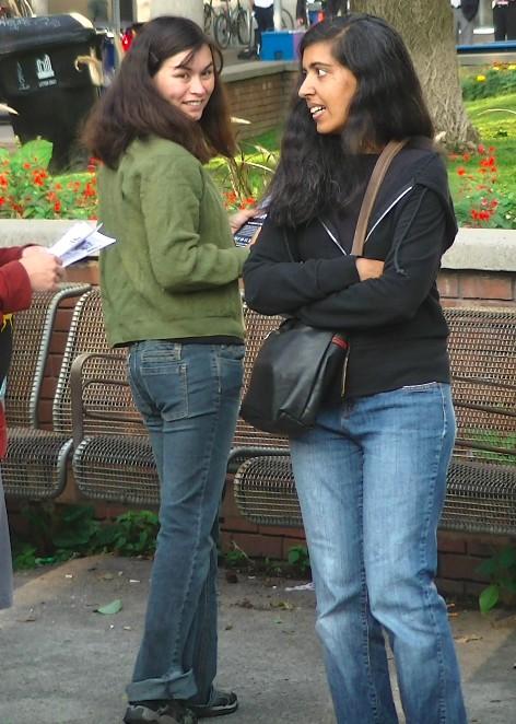 American anarchist Sakura Saunders (left)