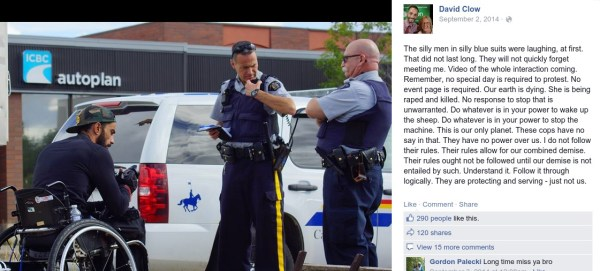 """Green Party MP candidate calls RCMP """"silly men in silly blue suits""""."""
