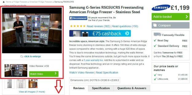 Página de Producto eCommerce: Video de demostración del producto - Pagina De Producto eCommerce
