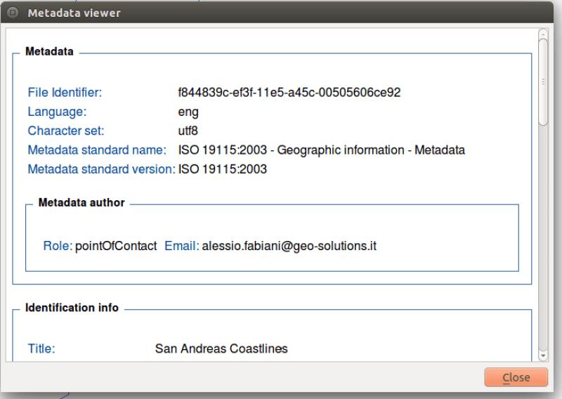 Contributing to GeoNode: Managing Metadata with the QGIS Metatools