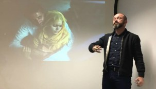 During the talk,a photojournalist displayed his photos which he snapped during his recent visit to Kashmir, explaining how he saw the miseries of the people of Kashmir