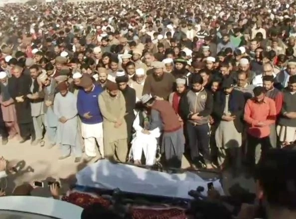 Funeral prayers of the protesters killed Wednesday