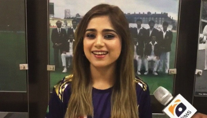 'Totally honoured' to be the Quetta Gladiators' face: Singer Aima Baig | 'Totally honoured' to be the Quetta Gladiators' face: Singer Aima Baig | 183579 8726108 updates