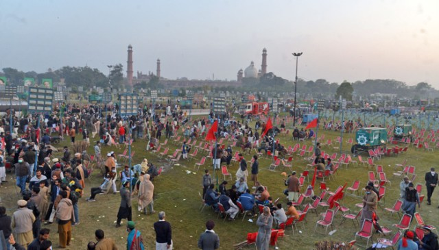 PDM's preparations for Minar-e-Pakistan jalsa in full swing