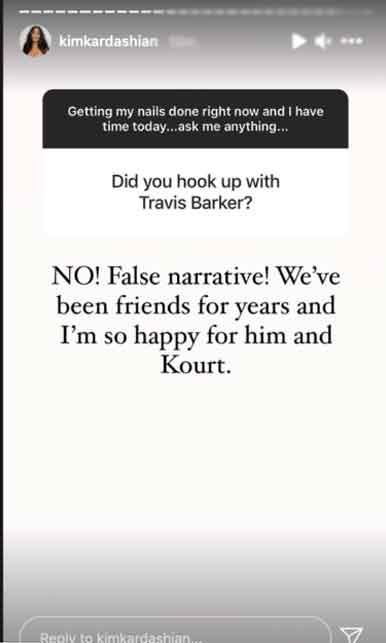 352070 6809213 updates Kim Kardashian breaks silence on romance rumours with Travis Barker