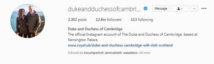 352378 6331287 updates Kate Middleton and Prince William near 13 million Instagram followers