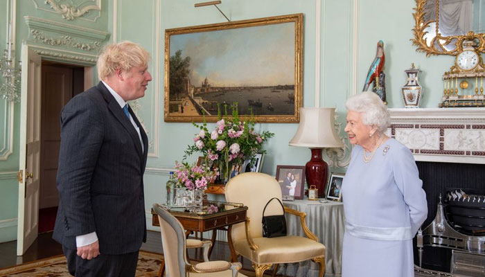 The monarch, 94, met with British Prime Minister Boris Johnson on Wednesday
