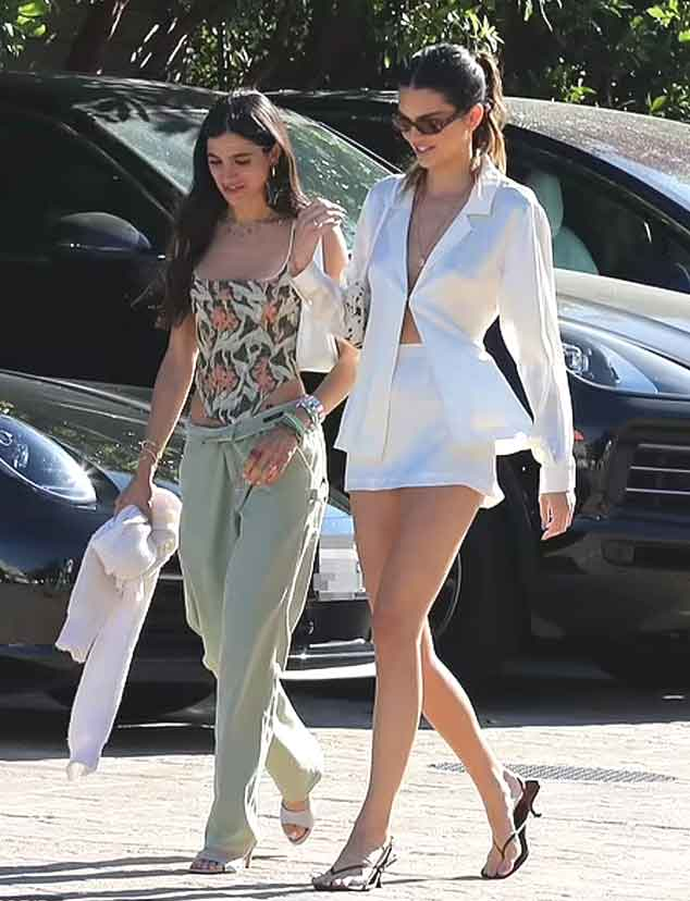 Kendall Jenner gives ultimate summer vibes as she steps out in blouse and mini skirt