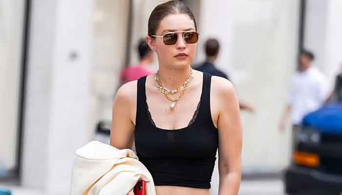 Gigi Hadid looks runway ready ahead of her fashion show