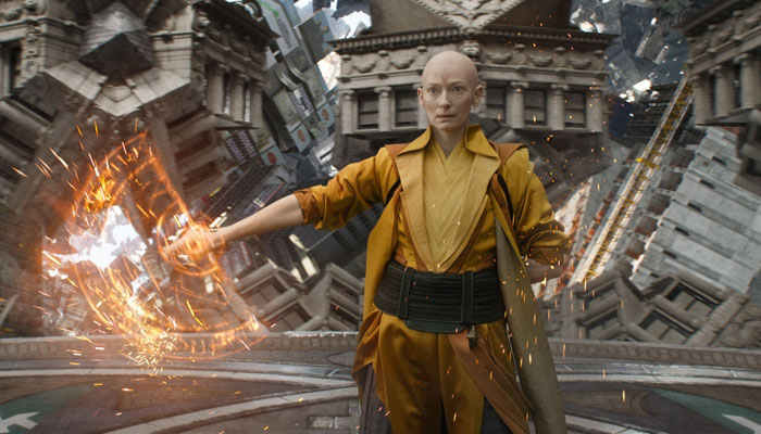 I remember at the time having a question mark in my own mind, said Tilda Swinton over the casting
