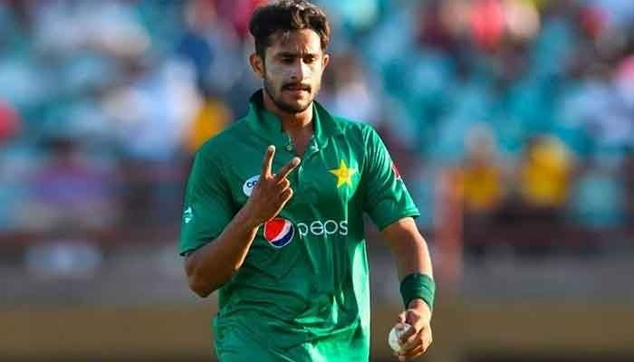 Fast bowler Hassan Ali gestures during an ODI match. Photo: File