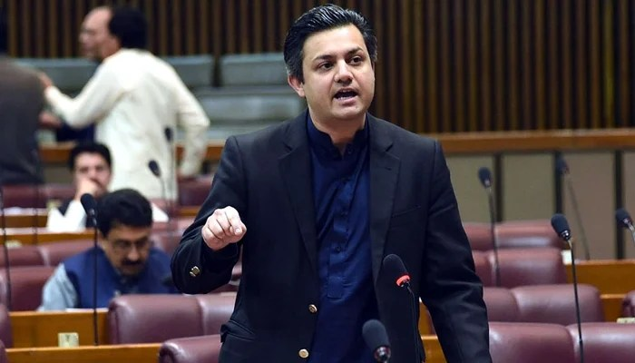 Federal Minister for Energy Hammad Azhar speaks on the floor of the National Assembly in this undated photo. — Twitter/File