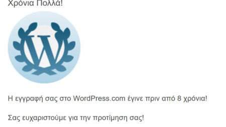 8 Years Anniversary at WordPress.com