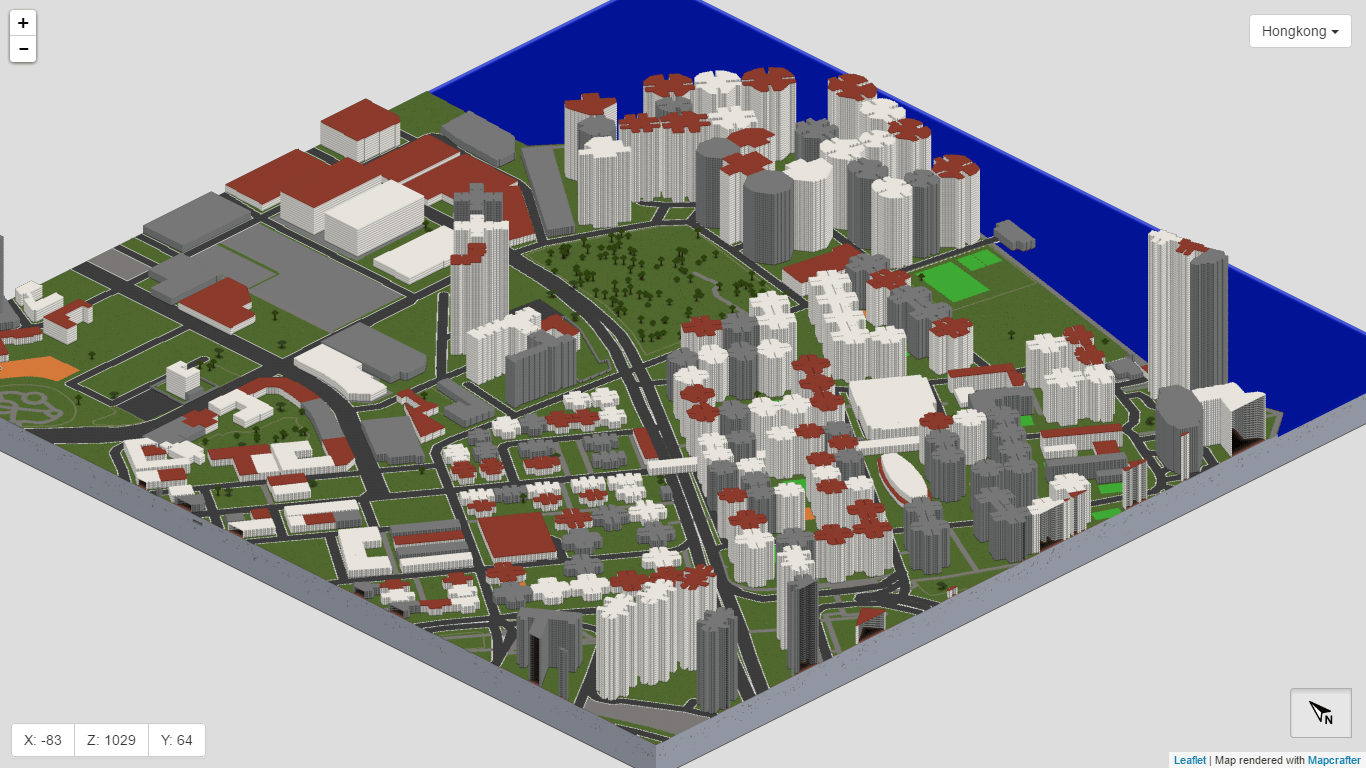 Hongkong in Minecraft with WorldBloxer by GeoBoxers