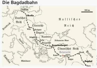 [Karte der Bagdadbahn]