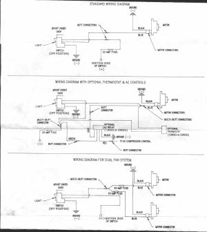 Hayden electric fan wiring diagram