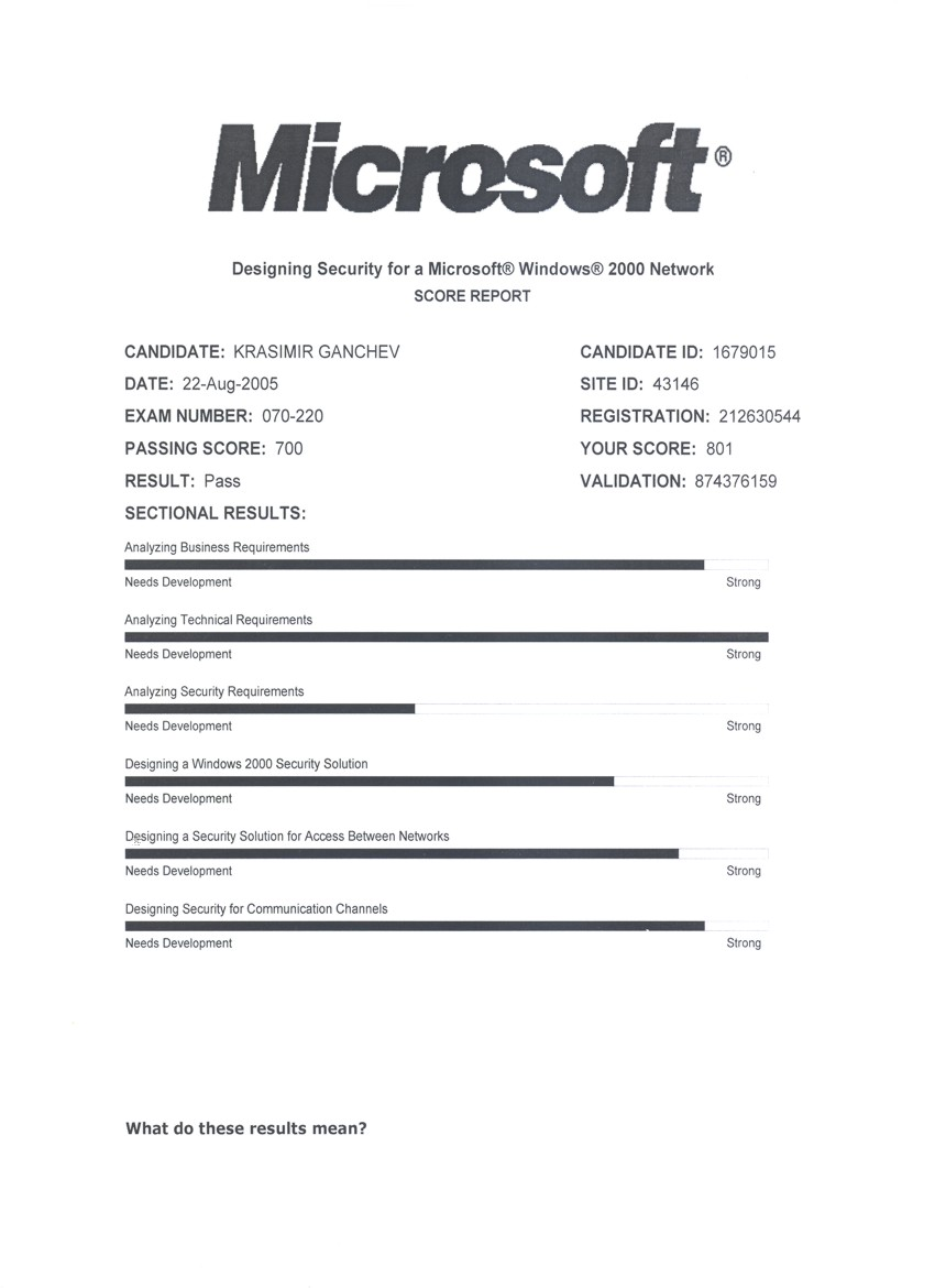 2005 designing security for a microsoft windows 2000 network