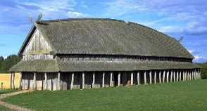 Reconstructed Norse longhouse found at Trelleborg