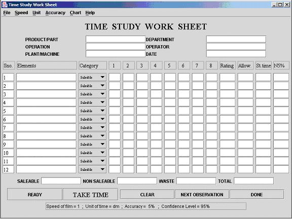 Worksheets Time Study Worksheet time motion study template free forms charts1 jpg computer aided amp study