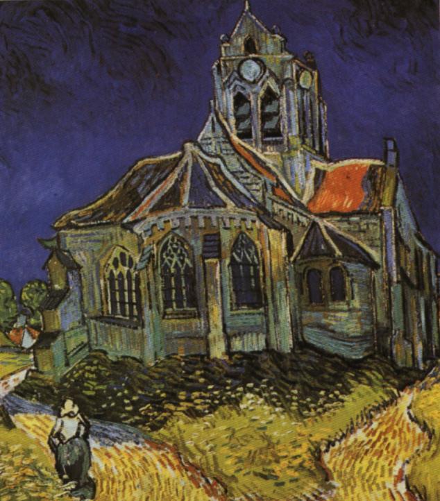 Resultado de imagem para A Igreja de Auvers van Gogh