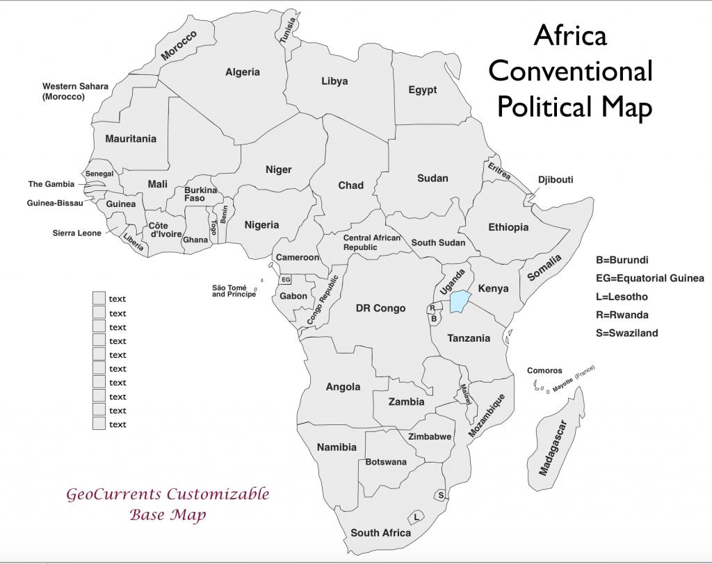 Map Of Africa Worksheet