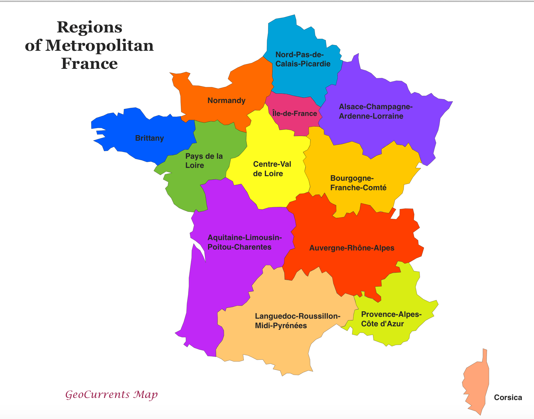 Customizable Maps Of France And The New French Regions