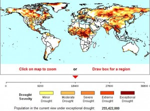 World map of drought severity