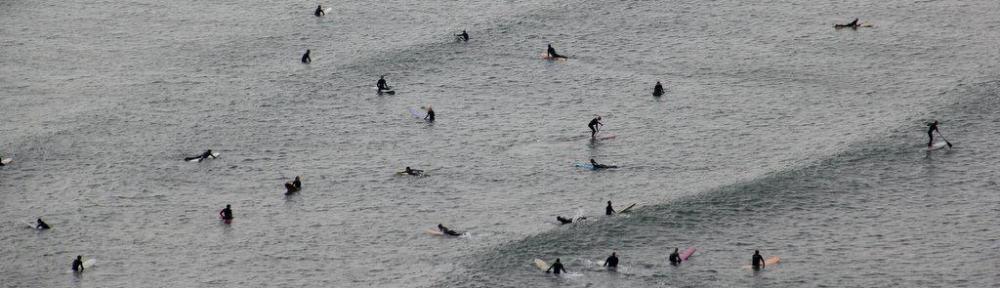 Surfing at Saunton