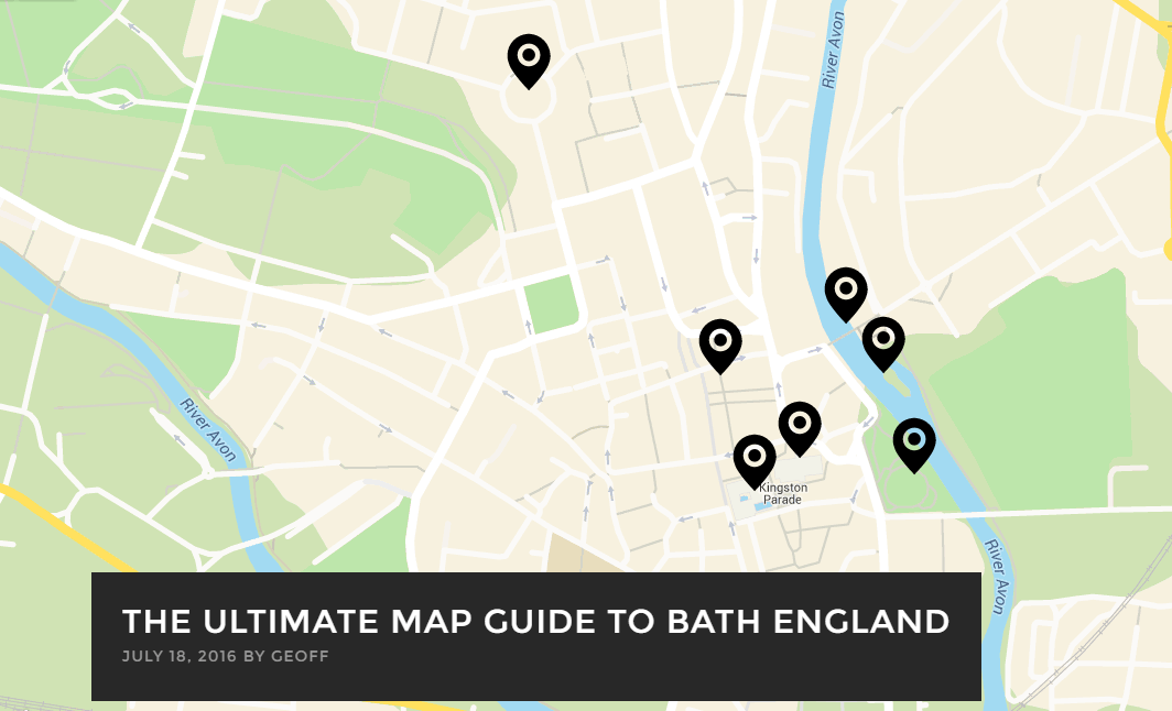 The Ultimate Map Guide To Bath England Geoff Meets World