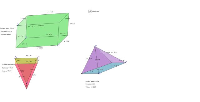 rectangular prism, triangular prism and pyramyd – GeoGebra