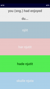 Swedish Verb Blitz