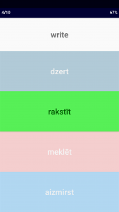 Latvian Verb Blitz