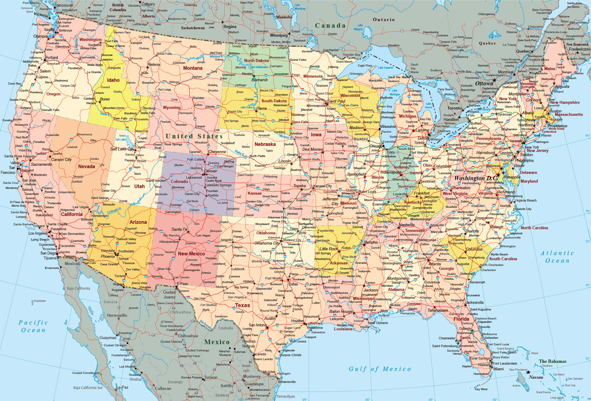 Us Map America Is A Continent Not A Country