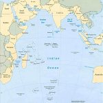 Indian Ocean Area Map Africa Asia Oceania And Antarctica