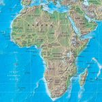 Physical Map Of Africa Rivers Terrain Forests And Countries
