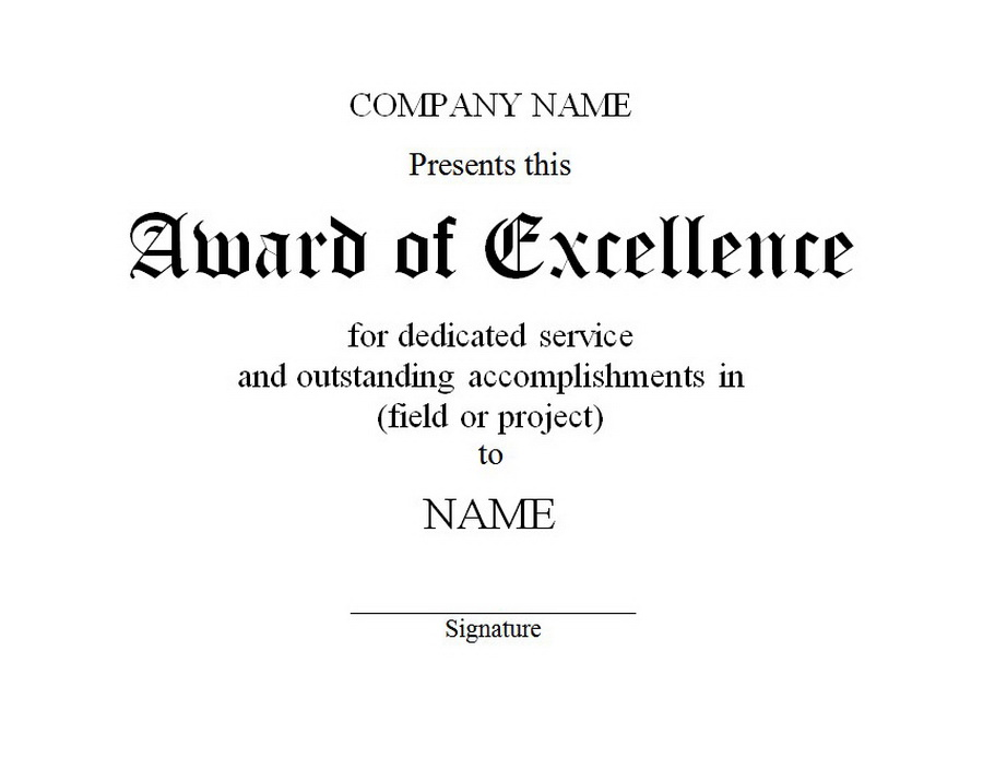 Certificates Of Excellence Templates Microsoft Certificate Of – Certificates of Excellence Templates