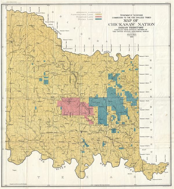 Five Civilized Tribes Oklahoma Map